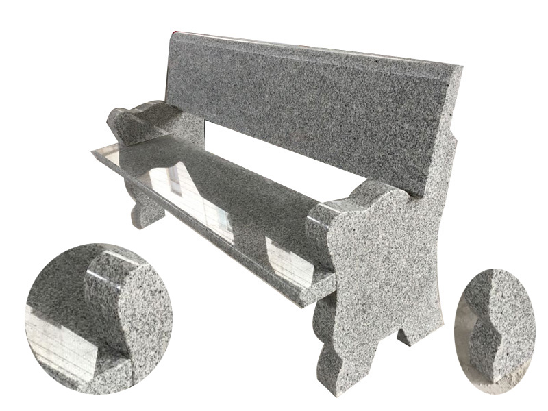 Grey Granite Memorial Benches For Graves