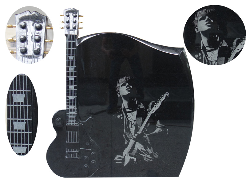 Guitar Headstone For Funeral