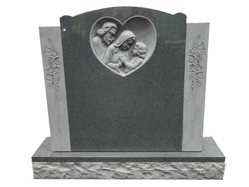 carved holy family monument