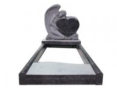 Blue Granite Angel Holding Heart Monuments