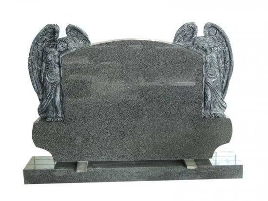 Double Angel Granite Headstone