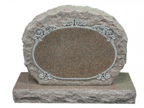 Upright Headstones With Roses Design