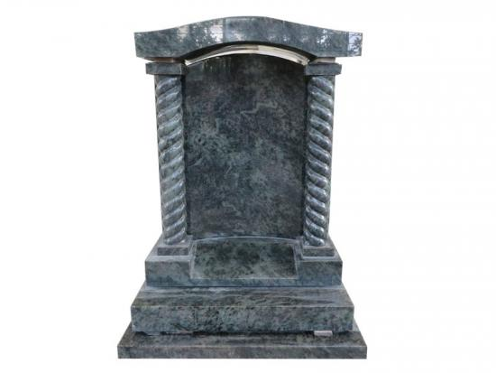 Green Granite Headstones With Carved Rope With Carved Rope Shape Columns