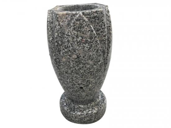 White Granite Cemetery Vases For Headstone