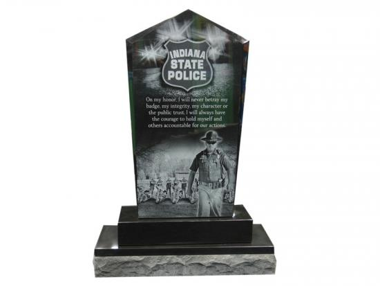 Black Granite Etched Police Memorial Stones Designs