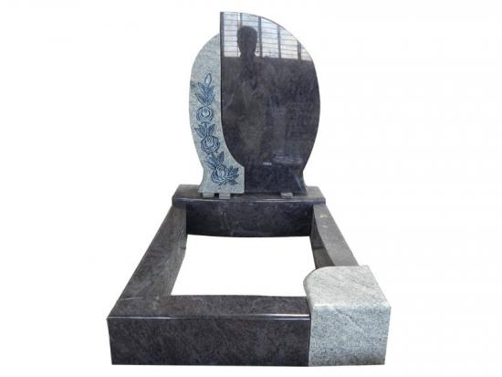 Rose Monument Mixed Bahama Blue And Grey Granite