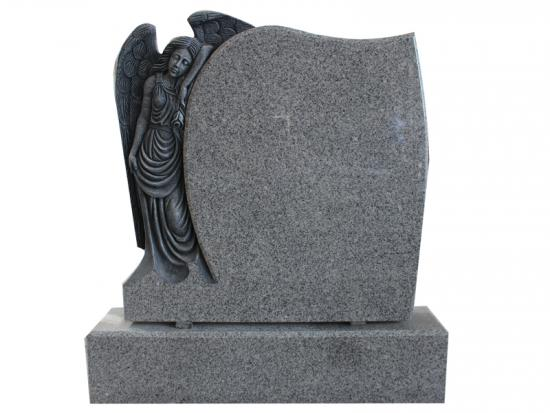 Weeping Angel Memorial With G603 Grey Granite