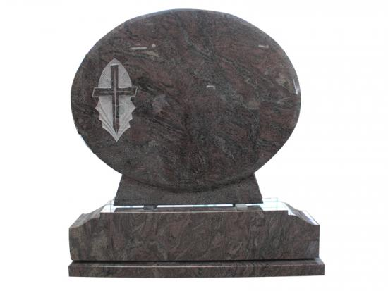 Paradiso Granite Cross Headstone For Irish
